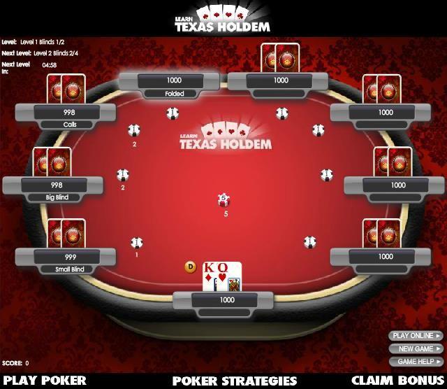 Game bar texas holdem poker